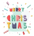 Christmas card in Memphis style vector image
