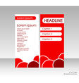 Bright cover brochure title and three options vector image