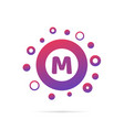 letter m with group of circles abstract logo icon vector image