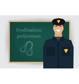Occupation policeman profession vector image