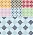 Plaid Pattern Seamless Set vector image