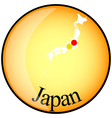 button Japan vector image