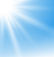 Abstract Blue Background with Sun Rays vector image vector image