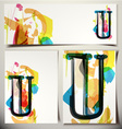 Artistic Greeting Card Letter U vector image
