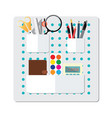 box full of office supply vector image vector image