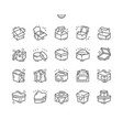 box well-crafted pixel perfect thin line vector image