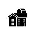 bungalow icon black sign on vector image vector image