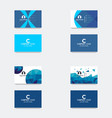 business card design template vector image