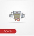 car electric winch flat style image vector image