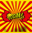 cartoon boom explosion comic speech bubble comic vector image vector image