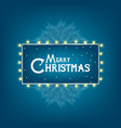 christmas and new year card with typography and vector image vector image