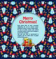 christmas flat postcard vector image vector image