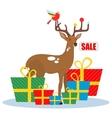 Christmas sale deer vector image