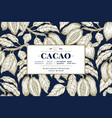 cocoa bean tree banner template chocolate cocoa vector image
