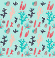 cute cactus and succulent pattern vector image vector image