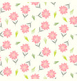 cute floral pattern with childish pink flowers vector image vector image