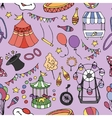 Doodle patern circus vector image vector image