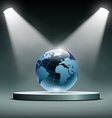 earth is illuminated floodlights vector image
