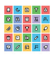 Education Square Icons 6 vector image vector image