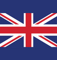 england flag official colors and proportion vector image