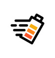 fast charging battery logo icon vector image