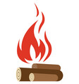 fire flame hot bonfire icon isolated on vector image