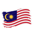 flag of malaysia grunge abstract brush stroke vector image