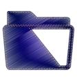 Folder sign vector image vector image