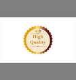 golden crown high quality star stamp seal badge vector image