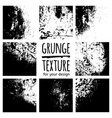 grunge black textures on white background vector image