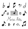 hand drawn music notes vector image vector image