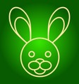 head of the easter bunny icon vector image vector image