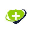 health shield community vector image vector image
