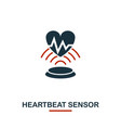 heartbeat sensor icon from sensors icons vector image vector image