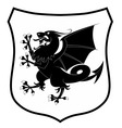 heraldic dragon vector image