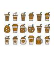 iced coffee cup icon colorline design coffee mug vector image vector image