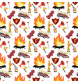 image pattern firefighter and fire truck vector image