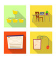 isolated object of education and learning sign vector image