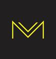 Letter vm simple geometric thin line logo