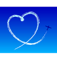 Love to the sky vector image vector image
