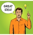Man got a great idea pop art style vector image vector image
