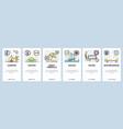 mobile app onboarding screens summer leisure vector image vector image