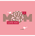 Mothers day card with two cute birds vector image vector image