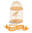 national bird day sign and vector image vector image