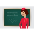 Occupation stewardess profession vector image vector image
