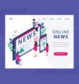 online news concept isometric vector image