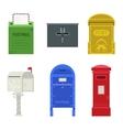 Post mail box set vector image vector image