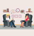 psychologist consultation solving mental problems vector image