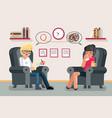 psychologist consultation solving mental problems vector image vector image