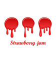 raspberry drip jam 3d set sweet raspberries vector image vector image